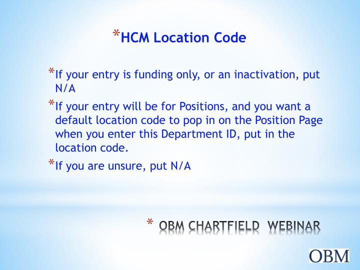 HCM Location Code