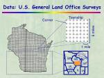 data u s general land office surveys
