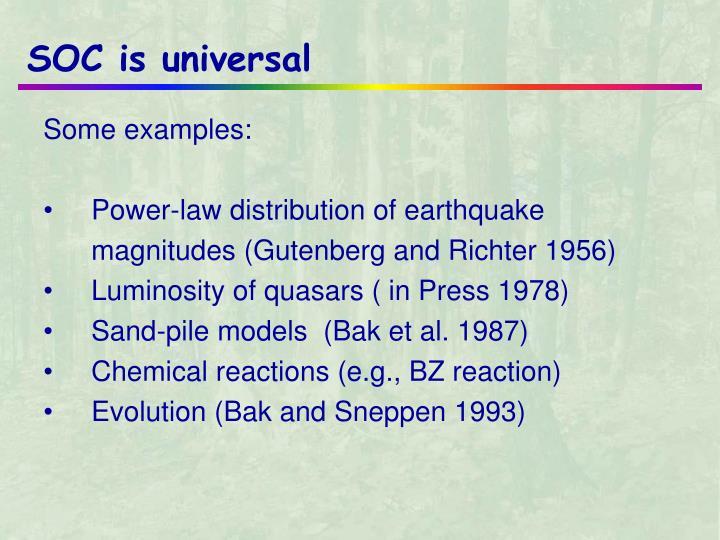 SOC is universal