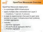 openflow mesoscale overview