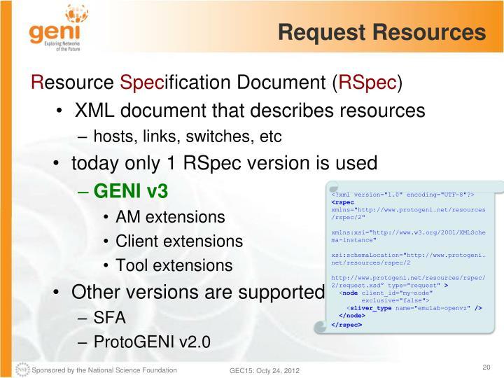 Request Resources