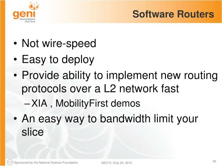 Software Routers