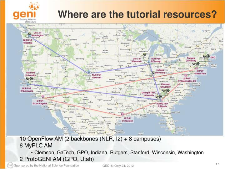 Where are the tutorial resources?