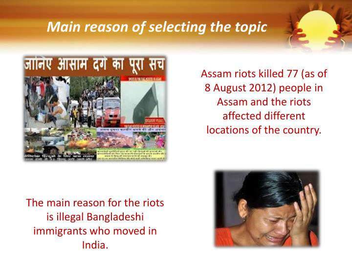 Main reason of selecting the topic