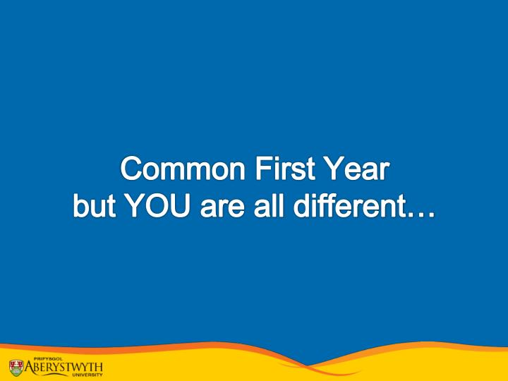 Common First Year