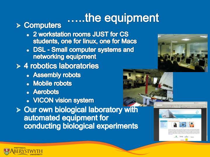 …..the equipment