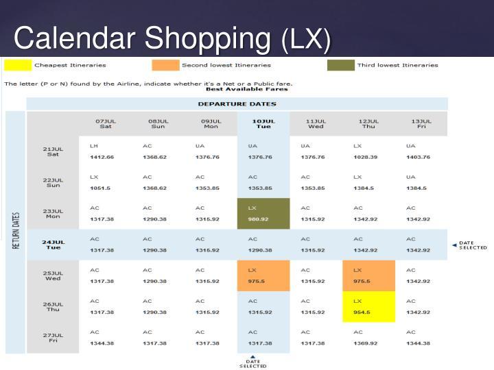 Calendar Shopping