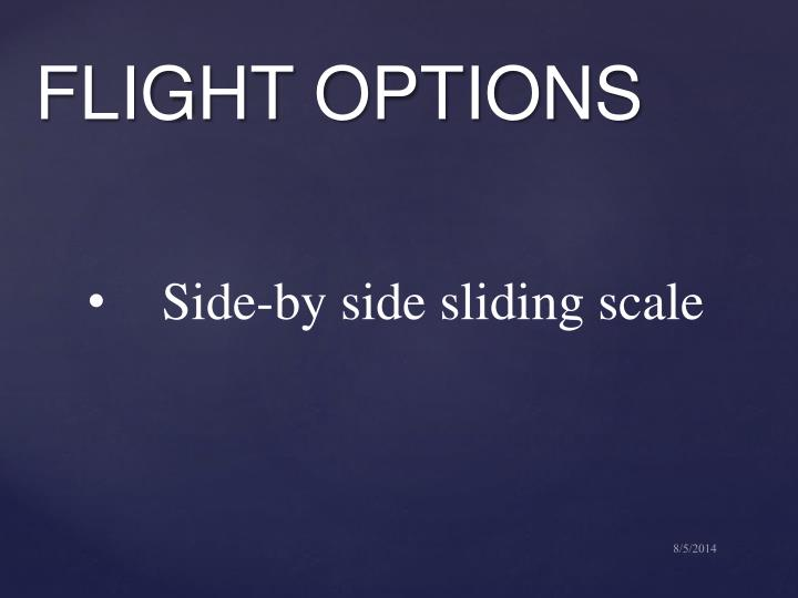 Side-by side sliding scale