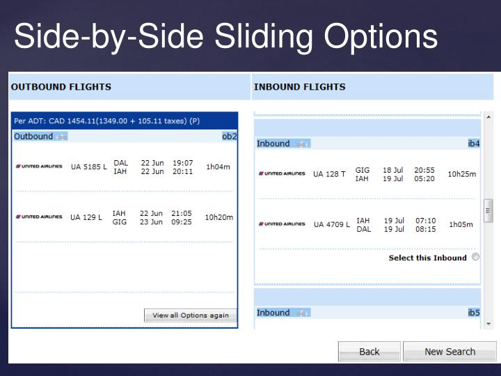 Side-by-Side Sliding Options