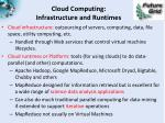 cloud computing infrastructure and runtimes