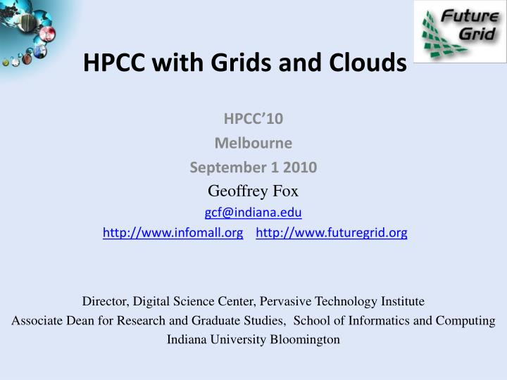 Hpcc with grids and clouds