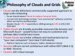 philosophy of clouds and grids