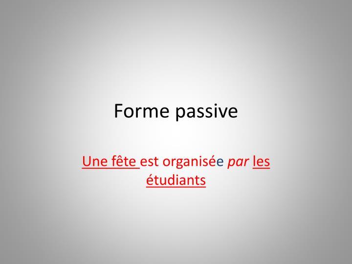 Forme passive