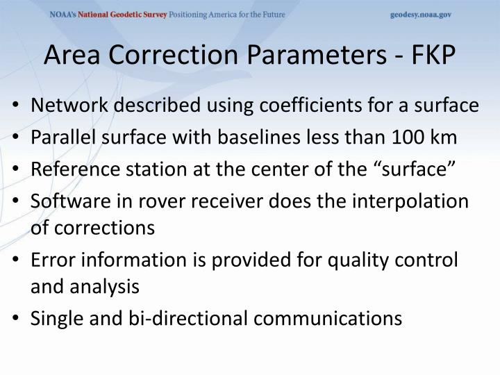 Area Correction Parameters - FKP