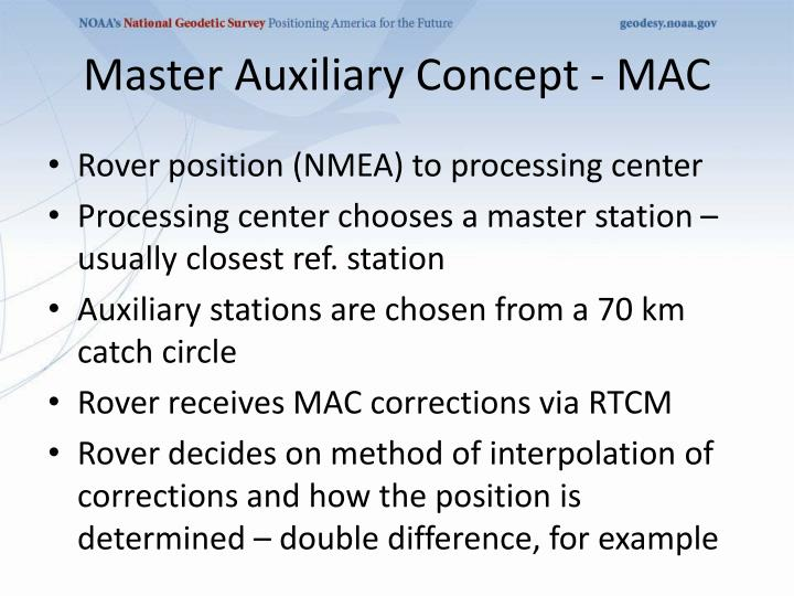 Master Auxiliary Concept - MAC