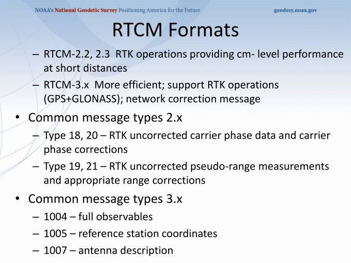 RTCM Formats