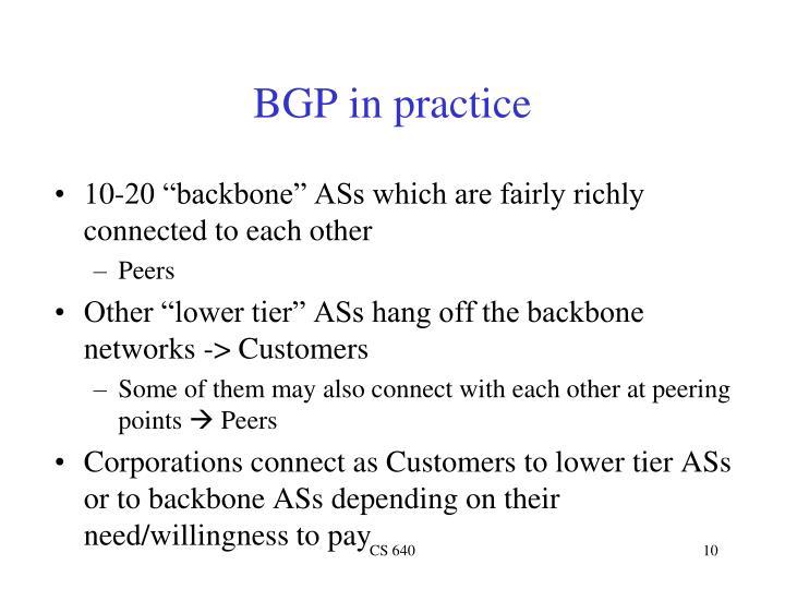 BGP in practice