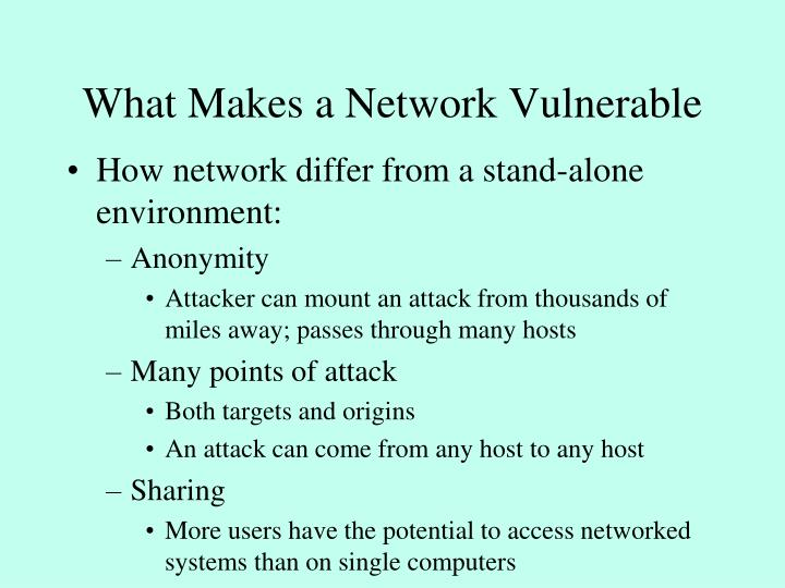 What Makes a Network Vulnerable