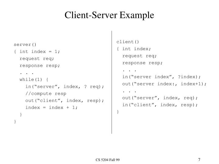 Client-Server Example