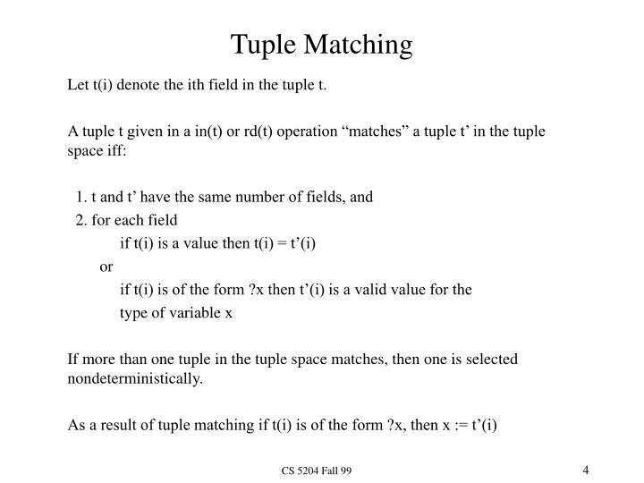 Tuple Matching