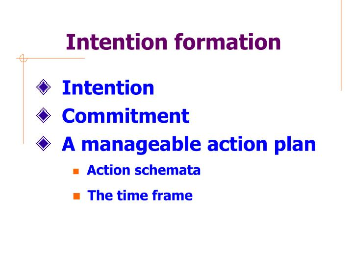 Intention formation