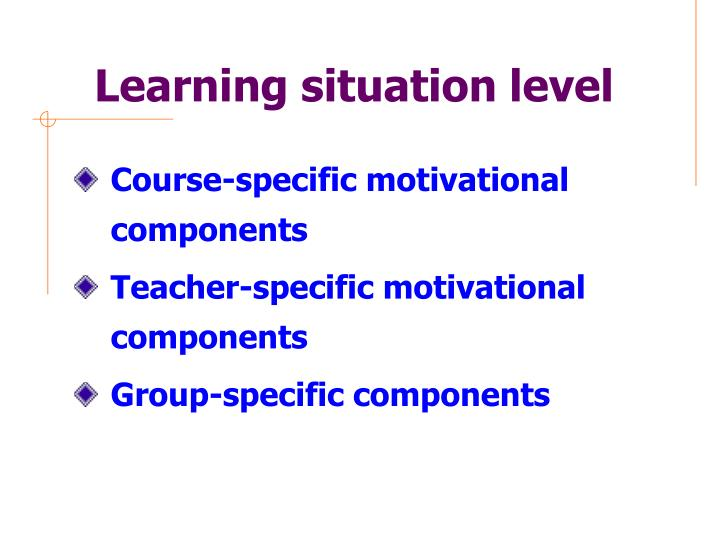 Learning situation level
