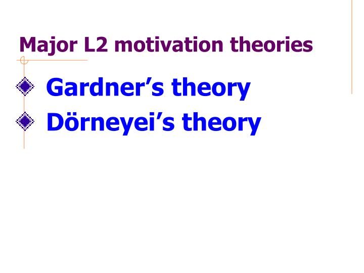 Major L2 motivation theories