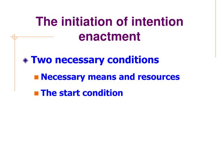 The initiation of intention enactment