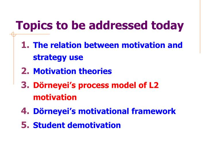 Topics to be addressed today