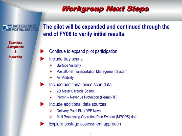 Workgroup Next Steps