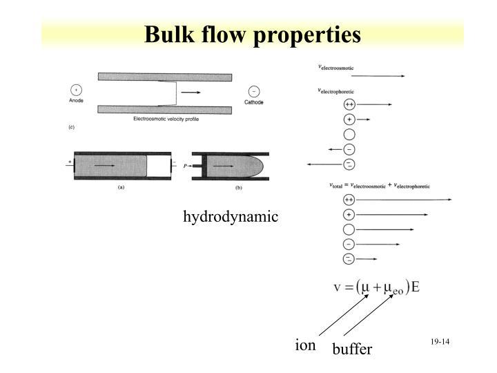 Bulk flow properties