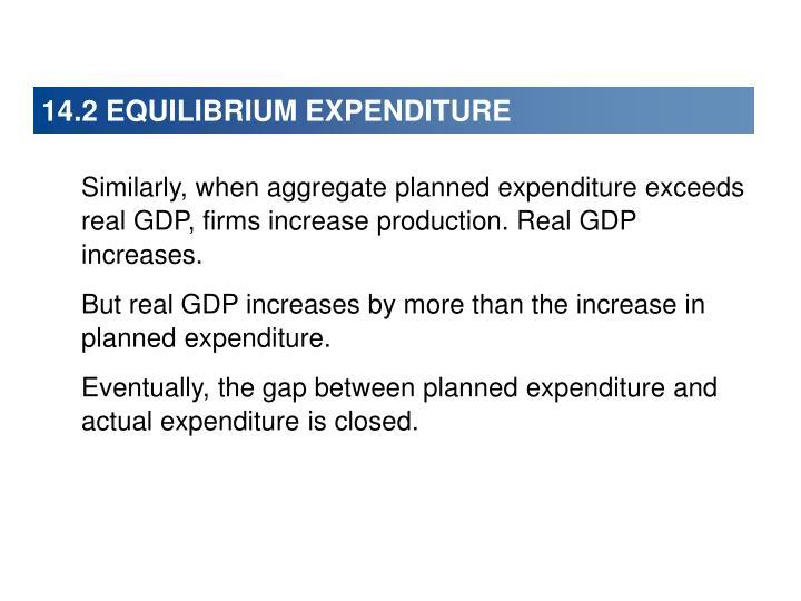 14.2 EQUILIBRIUM EXPENDITURE