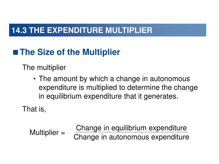Change in equilibrium expenditure
