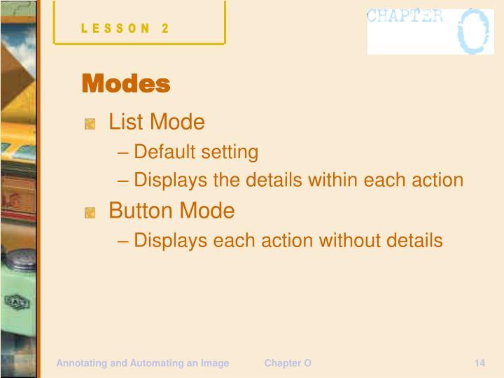 List Mode