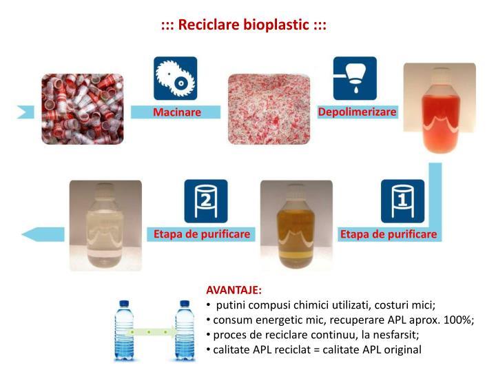 ::: Reciclare bioplastic :::