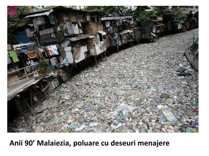 Anii 90' Malaiezia, poluare cu deseuri menajere