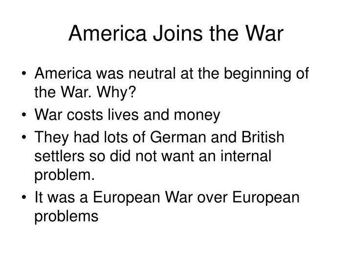 America Joins the War