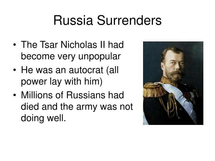 Russia surrenders