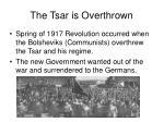 the tsar is overthrown