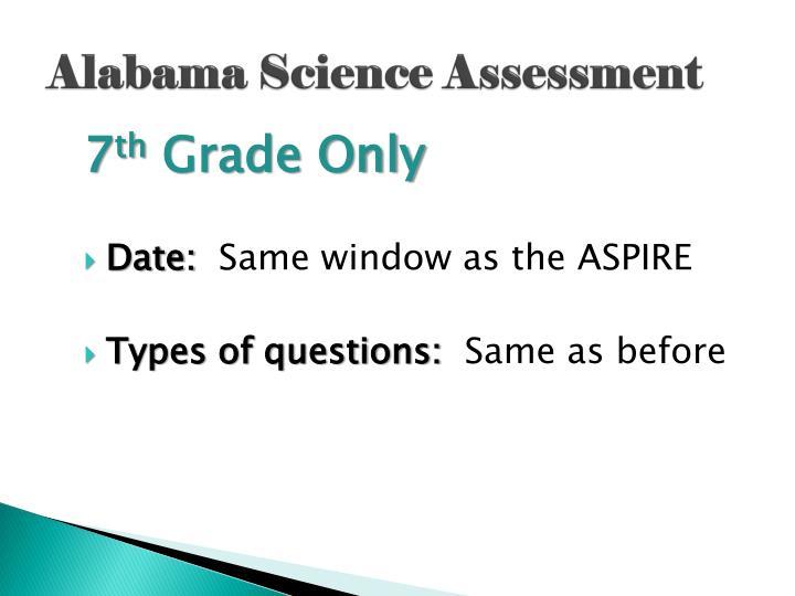 Alabama Science Assessment