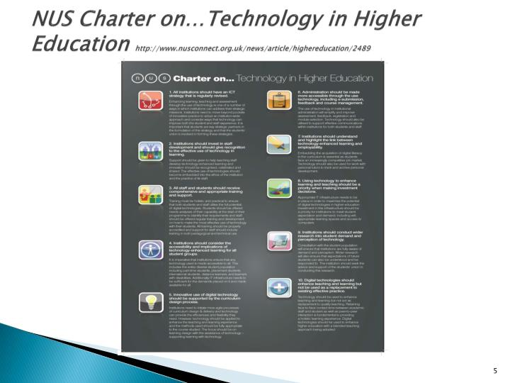 NUS Charter on…Technology in Higher Education