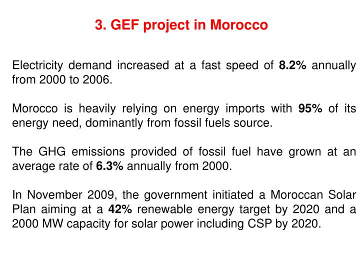 3. GEF project in Morocco