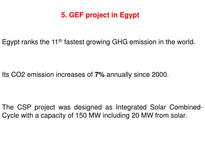 5. GEF project in Egypt