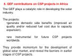 8 gef contributions on csp projects in africa
