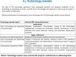 b technology transfer