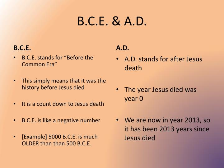 B.C.E. & A.D.