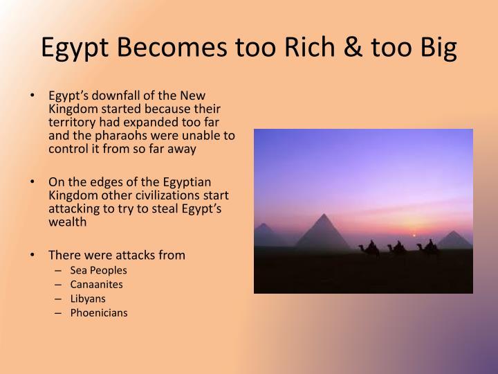Egypt Becomes too