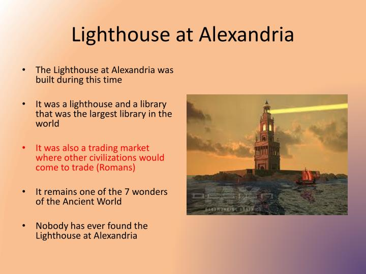 Lighthouse at Alexandria