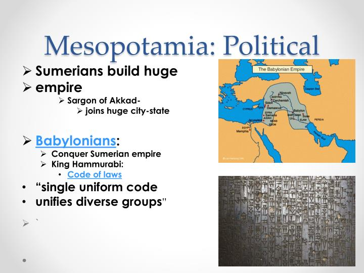 Mesopotamia: Political