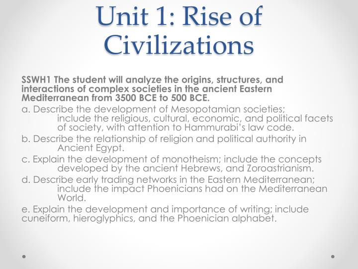 Unit 1 rise of civilizations